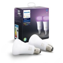 Комплект 2x LED Димируема крушка Philips HUE WHITE AND COLOR AMBIANCE E27/9W/230V 2000-6500K