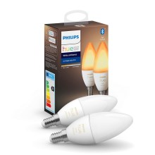 КОМПЛЕКТ 2x LED димируема крушка Philips HUE WHITE B39 E14 / 5.2W / 230V 2200K-6500K