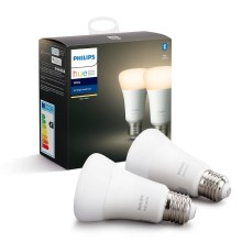 Комплект 2x LED Димируема крушка Philips HUE WHITE E27/9W/230V 2700K