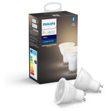 Комплект 2x LED Димируема крушка Philips HUE WHITE GU10/5,2W/230V 2700K