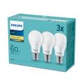 Комплект 3x LED крушка Philips E27/9W/230V 2700K