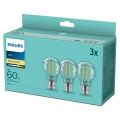 КОМПЛЕКТ 3x LED Крушка VINTAGE Philips A60 E27/7W/230V 2700K