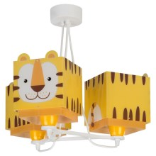 Dalber 64567 - Детски полилей LITTLE TIGER 3xE27 / 60W / 230V