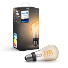 LED Димируема крушка Philips HUE WHITE FILAMENT ST64 E27/7W/230V 2100K
