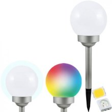 LED RGB Соларна лампа BALL LED / 0,2W / AA 1,2V / 600mAh IP44