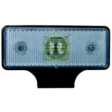 LED Светлоотражател SINGLE LED/0,2W/12-24V IP67 сребърна