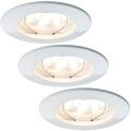 Paulmann 927.55 - SADA 3x LED/6,8W IP44 Таванска лампа за баня COIN 230V