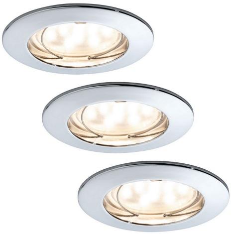 Paulmann 92759 - Комплект 3xLED/6,8W За баня Осветление за окачен таван COIN 230V IP44