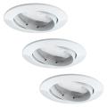 Paulmann 92765 - Комплект 3xLED/6,8W За баня Осветление за окачен таван COIN 230V