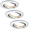 Paulmann 92780 - Комплект 3xLED/6,8W За баня Осветление за окачен таван COIN 230V