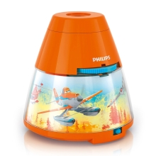 Philips 71769/53/16 - LED Детски Проектор DISNEY PLANES LED/0,1W/3xAA